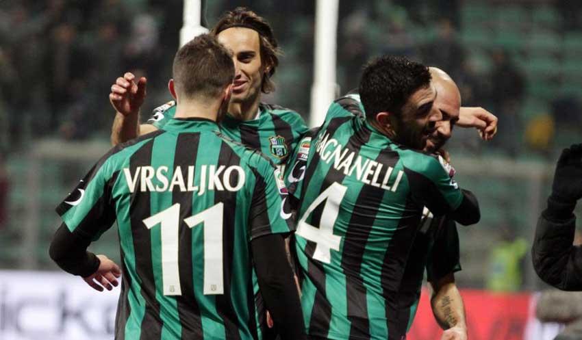 Esultanza Sassuolo-Udinese