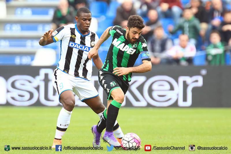 Magnanelli in azione nel corso del match con l'Udinese (foto: sassuolocalcio.it)