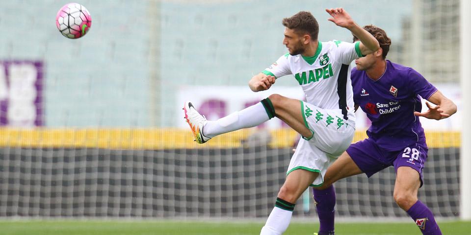 Domenico Berardi, uno dei pochi sicuri del posto contro la Samp, in azione nell'ultimo turno di campionato (fonte: sassuolocalcio.it)