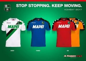 Maglie Sassuolo, stagione 16-17. Fonte: pagina facebook sassuolo