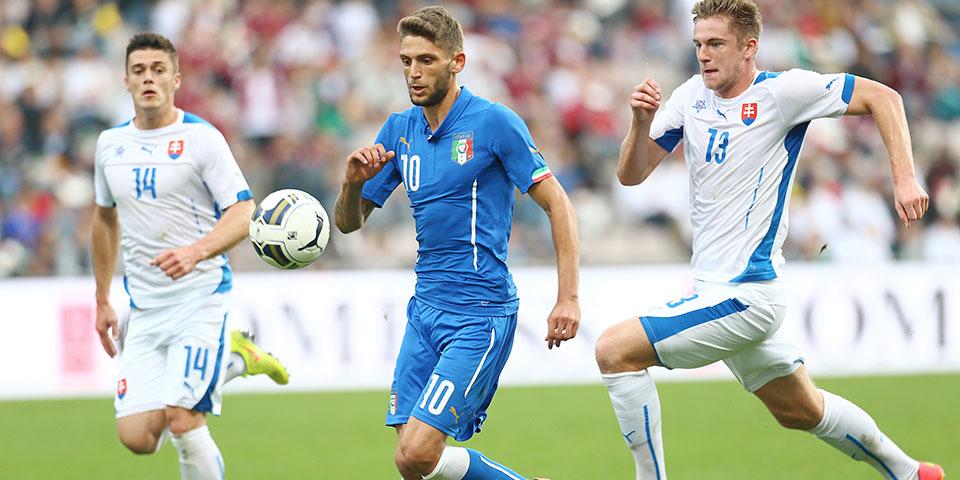 Berardi in azione con la maglia dell'Italia under 21 (fonte: sassuolocalcio.it)