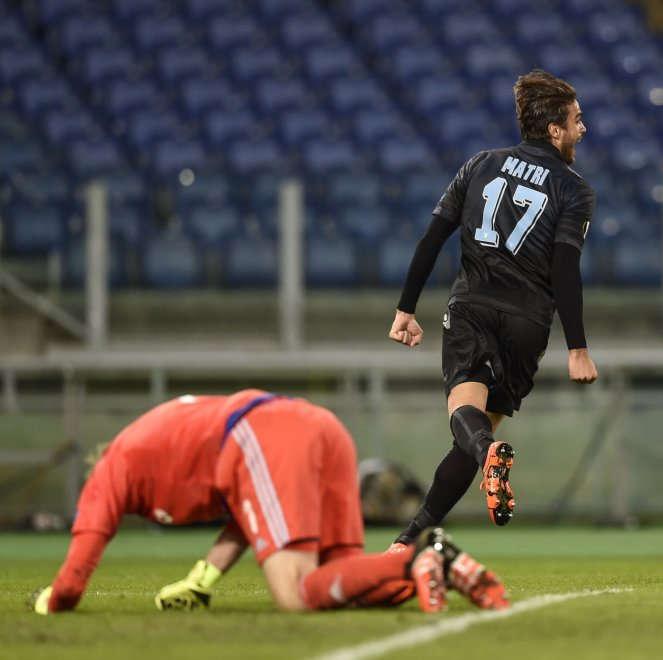 Matri in azione con la maglia della Lazio (foto: repubblica.it)