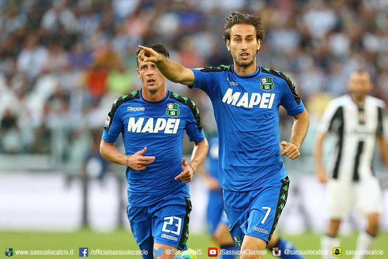 Missiroli e Gazzola in azione durante Juventus-Sassuolo (fonte: sassuolocalcio.it)