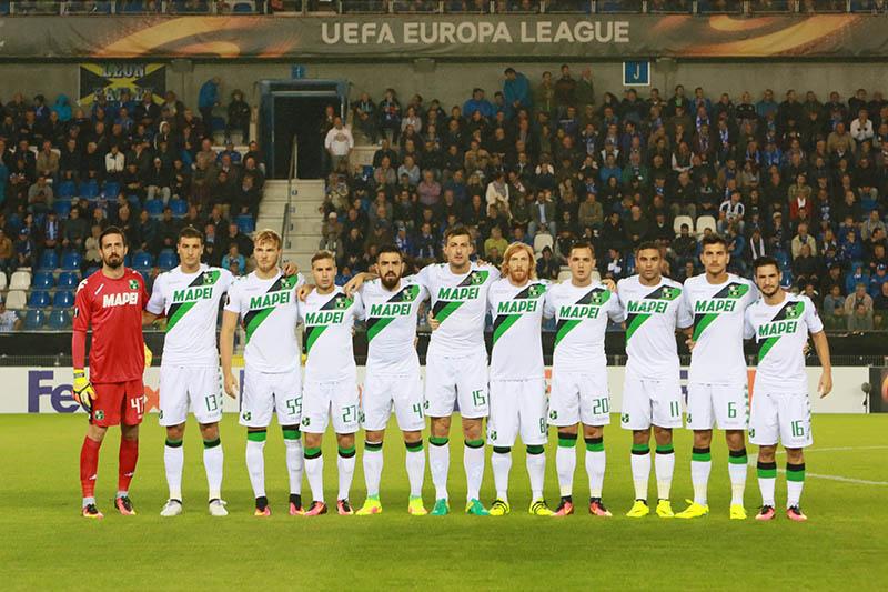 La formazione titolare schierata da Di Francesco nell'ultimo match di Europa League contro il Genk (fonte: sassuolocalcio.it)