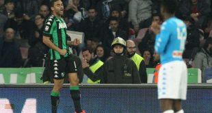 Defrel esulta dopo il gol dell'1-1 al San Paolo (fonte: repubblica.it)
