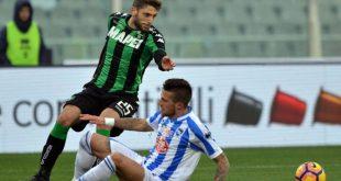 Pescara-Sassuolo 1-3: neroverdi ritrovati, terzo risultato utile consecutivo