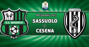 FINALE: Sassuolo-Cesena 1-2, neroverdi fuori dalla Coppa Italia. Il tabellino