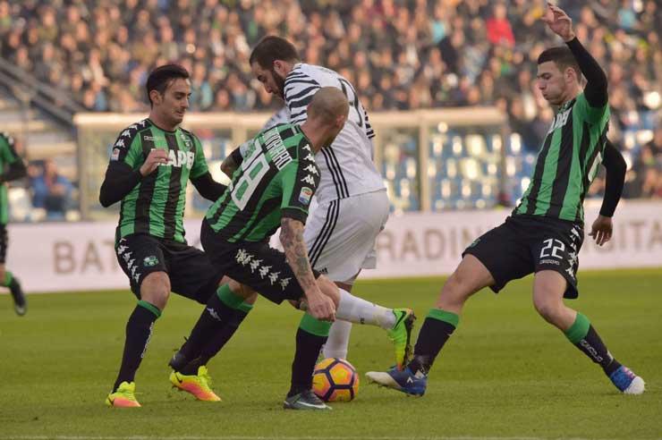 Sassuolo-Juventus 2-0 (foto: ansa)