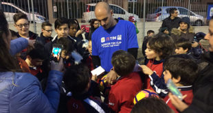 Cannavaro incontra gli Under 14 della Junior Tim Cup
