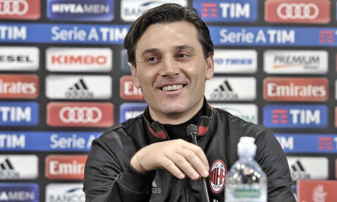 Milan, Montella vede la prima pagina della Gazzetta e sfotte Gattuso