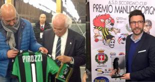 Amatrice: Di Francesco riceve il premio Scopigno, al sindaco una maglia del Sassuolo