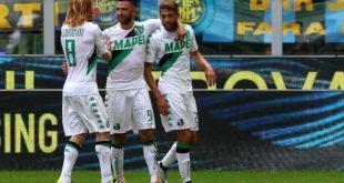 Esultanza Inter-Sassuolo