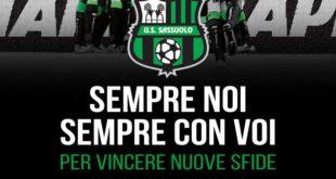 Campagna abbonamenti Sassuolo 2018-19, oggi la presentazione