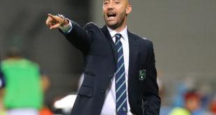 """Mister Bucchi dopo Sassuolo-Bologna: """"La strada è quella giusta, stiamo crescendo. Sconfitta immeritata""""."""