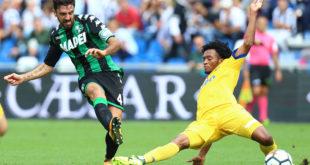 Giudice sportivo: per Sassuolo-Juventus fuori Cuadrado, Sassuolo al completo