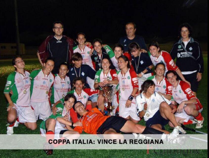 Silvia Vicenzi vincitrice della Coppa italia con la Reggiana Femminile.
