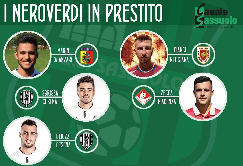 Giocatori del Sassuolo in prestito