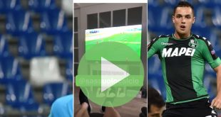 VIDEO: Pol Lirola esulta per il gol di Politano