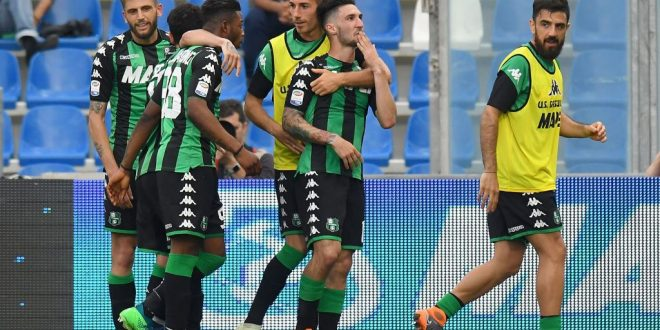 Esultanza Sassuolo-Sampdoria