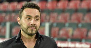 """De Zerbi al termine di Milan-Sassuolo 1-2: """"Oggi Squinzi sarebbe stato orgoglioso"""""""