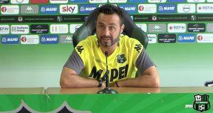 """De Zerbi al termine di Bologna-Sassuolo 1-2: """"Giocheremo sempre per vincere"""""""