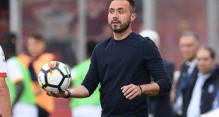 """De Zerbi al termine di Sassuolo-Lecce 4-2: """"Vogliamo un posto al tavolo dei forti"""""""