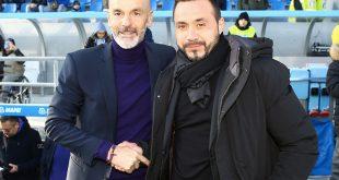 """De Zerbi alla vigilia di Milan-Sassuolo: """"A San Siro non per difenderci, ma a giocare"""""""