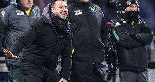 """De Zerbi dopo Inter-Sassuolo 0-0: """"Abbiamo messo in campo la giusta voglia di lottare. Boateng fondamentale per noi"""""""