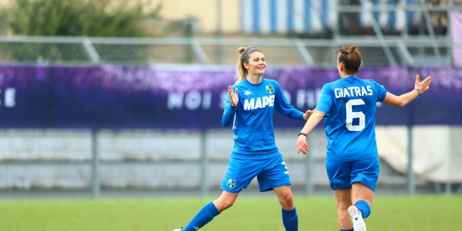 Lividi viola per il Sassuolo femminile che perde contro la Fiorentina Femminile