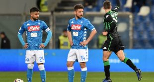 Domenico Berardi esultanza Sassuolo-Napoli