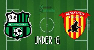Diretta Under 16 Sassuolo-Benevento