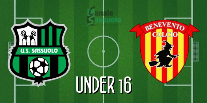 DIRETTA Under 16 Sassuolo-Benevento: le formazioni ufficiali