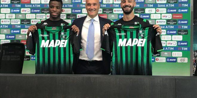 Francesco Caputo, Hamed Junior Traorè e il direttore Giovanni Rossi