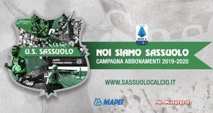 Campagna Abbonamenti Sassuolo 2019/2020