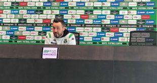 """Sassuolo-Napoli, De Zerbi: """"Domani è un altro esame, una partita difficile che vorremo far bene e vincere"""""""