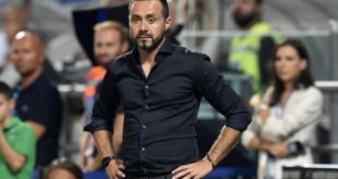 """De Zerbi al termine di Sassuolo-Cagliari 1-1: """"Nulla da rimproverare"""""""