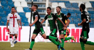 highlights di Sassuolo-Genoa 5-0