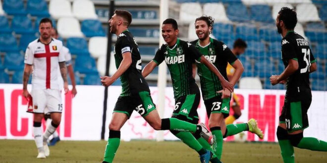 highlights di Sassuolo-Genoa 5-0