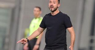 """Mister Roberto De Zerbi prima di Sassuolo-Cagliari: """"Dobbiamo ripartire da dove abbiamo finito"""""""