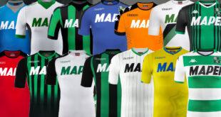 Maglia Sassuolo: ecco tutte le divise Kappa indossate dai neroverdi