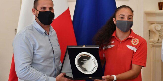 Sassuolo Femminile: Haley Bugeja premiata dal primo ministro maltese