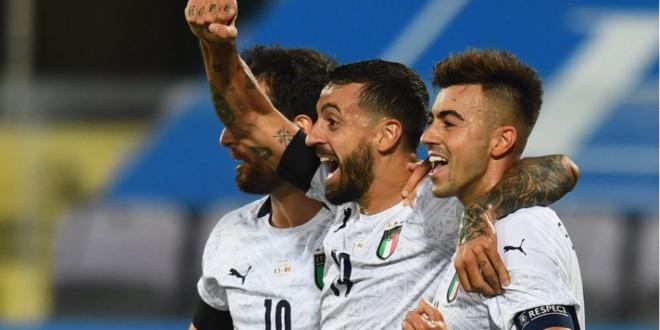 Ciccio Caputo gol in Italia-Moldavia 6-0