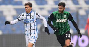 I numeri di Sassuolo-Inter 0-3: i neroverdi dominano le statistiche, ma i tre punti vanno all'Inter
