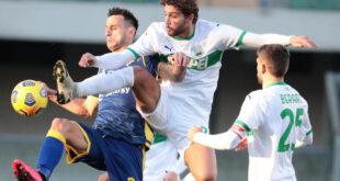 Hellas Verona-Sassuolo 0-2: bravura, fortuna, astuzia e occasioni colte al momento giusto
