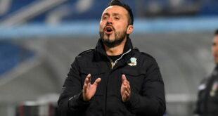 """De Zerbi prima di Genoa-Sassuolo: """"Torna Caputo. Europa? Non è vero che non abbiamo da perdere"""""""