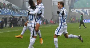 Il Tabellino di Sassuolo-Inter 0-3, primo KO per i neroverdi