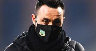 """De Zerbi al termine di Sassuolo-Spal 0-2: """"Gara cambiata dopo l'espulsione"""""""