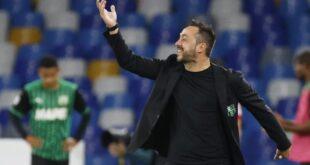 """De Zerbi dopo Lazio-Sassuolo 2-1: """"Sofferto gli avversari fisicamente ma abbiamo fatto molto"""""""