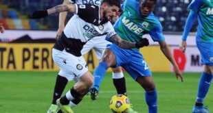 VIDEO – Gli highlights di Udinese-Sassuolo 2-0