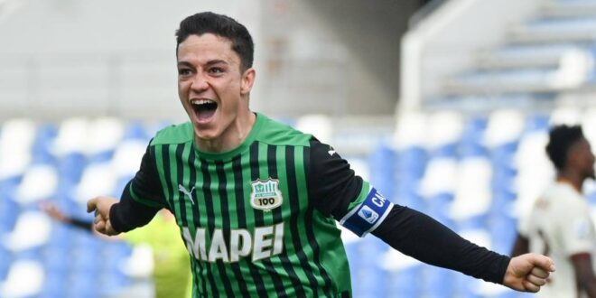 sassuolo-roma 2-2, Giacomo Raspadori Capitano